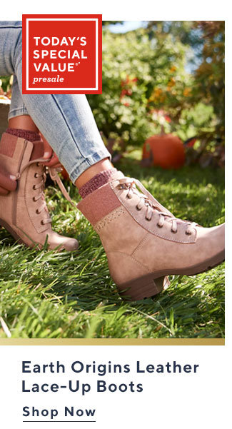 Earth Origins Leather Lace-Up Boots Shop Now
