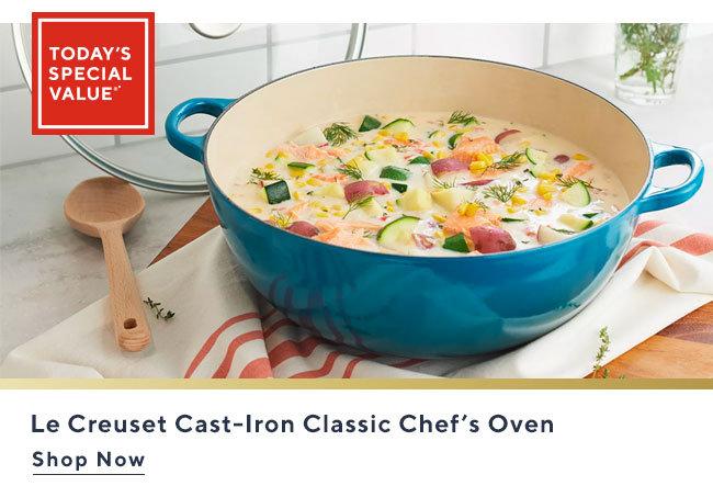 Le Creuset Cast-Iron Classic Chef's Oven Shop Now