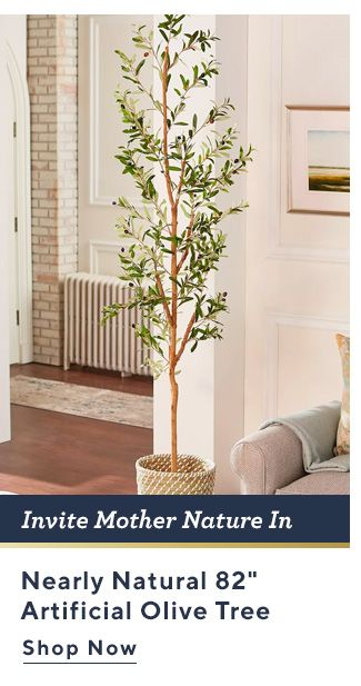 Invite Mother Nature In. Nearly Natural 82-inch Artificial Olive Tree