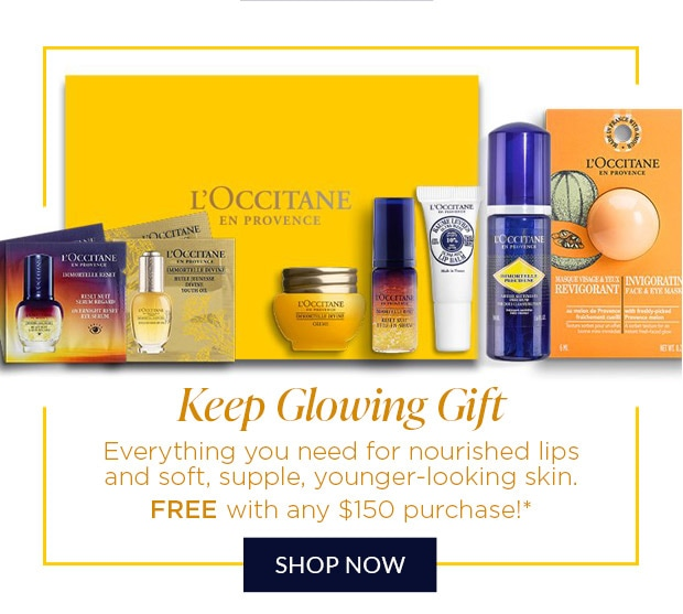 KEEP GLOWING GIFT. SHOP NOW