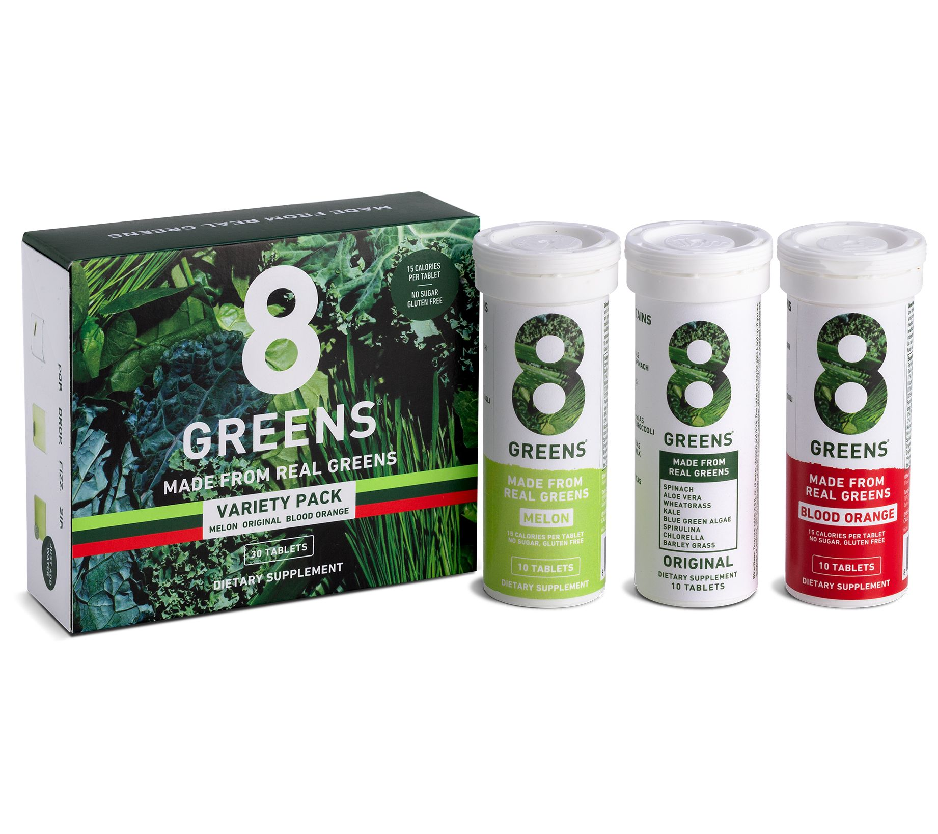 8Greens Effervescent Drink Tablets 30 Count Choice of Flavor