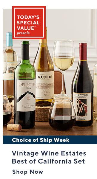 Today's Special Value®* Presale Vintage Wine Estates Best of California Set Shop Now