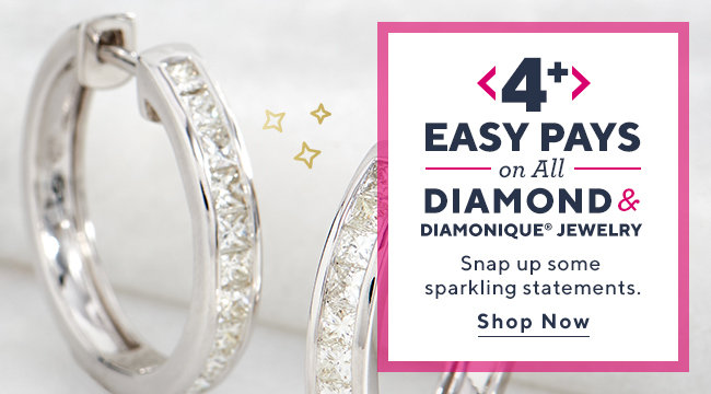 Easy Pays on All Diamond & Diamonique® Jewelry Snap up some sparkling statements. Shop Now