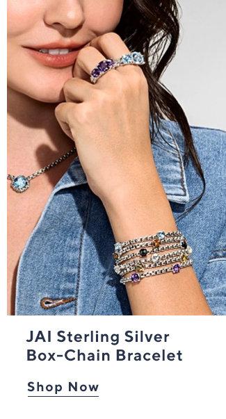 JAI Sterling Silver Box-Chain Bracelet Shop Now