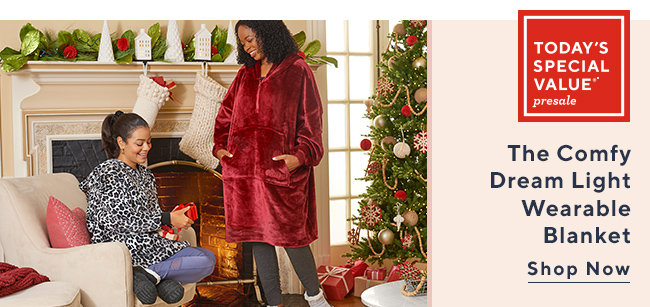Today's Special Value®* Presale  The Comfy Dream Light  Wearable Blanket Shop Now