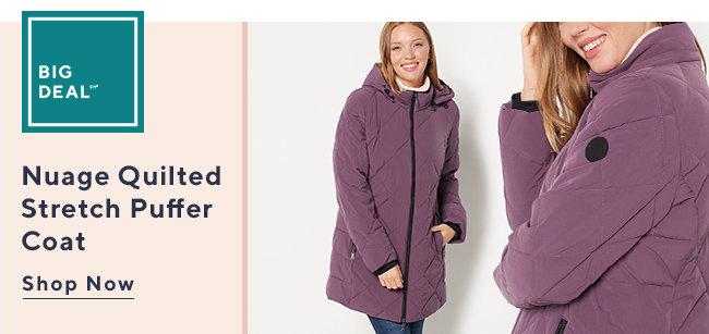 Big Deal?* Nuage Quilted  Stretch Puffer Coat Shop Now