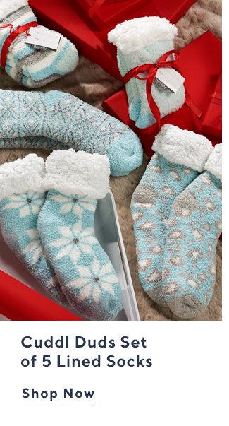 Cuddl Duds Set of 5 Lined Socks Shop Now
