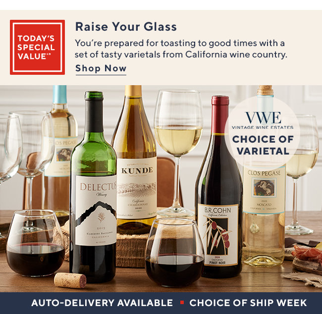 Today's Special Value - Vintage Wine Estates Best of CaliforniaWine Country