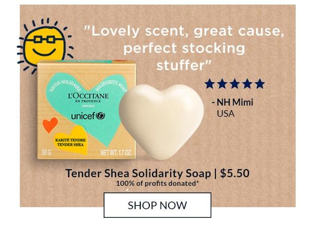 TENDER SHEA SOLIDARITY SOAP. SHOP NOW