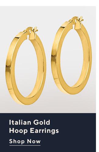 Italian Gold Hoop Earrings Shop Now