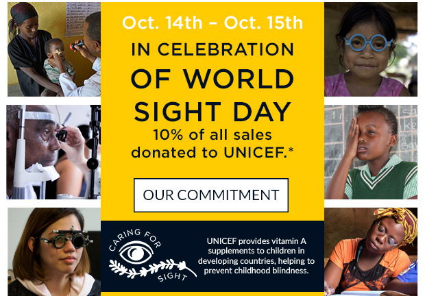 IN CELEBRATION OF WORLD SIGHT DAY. OUR COMMITMENT