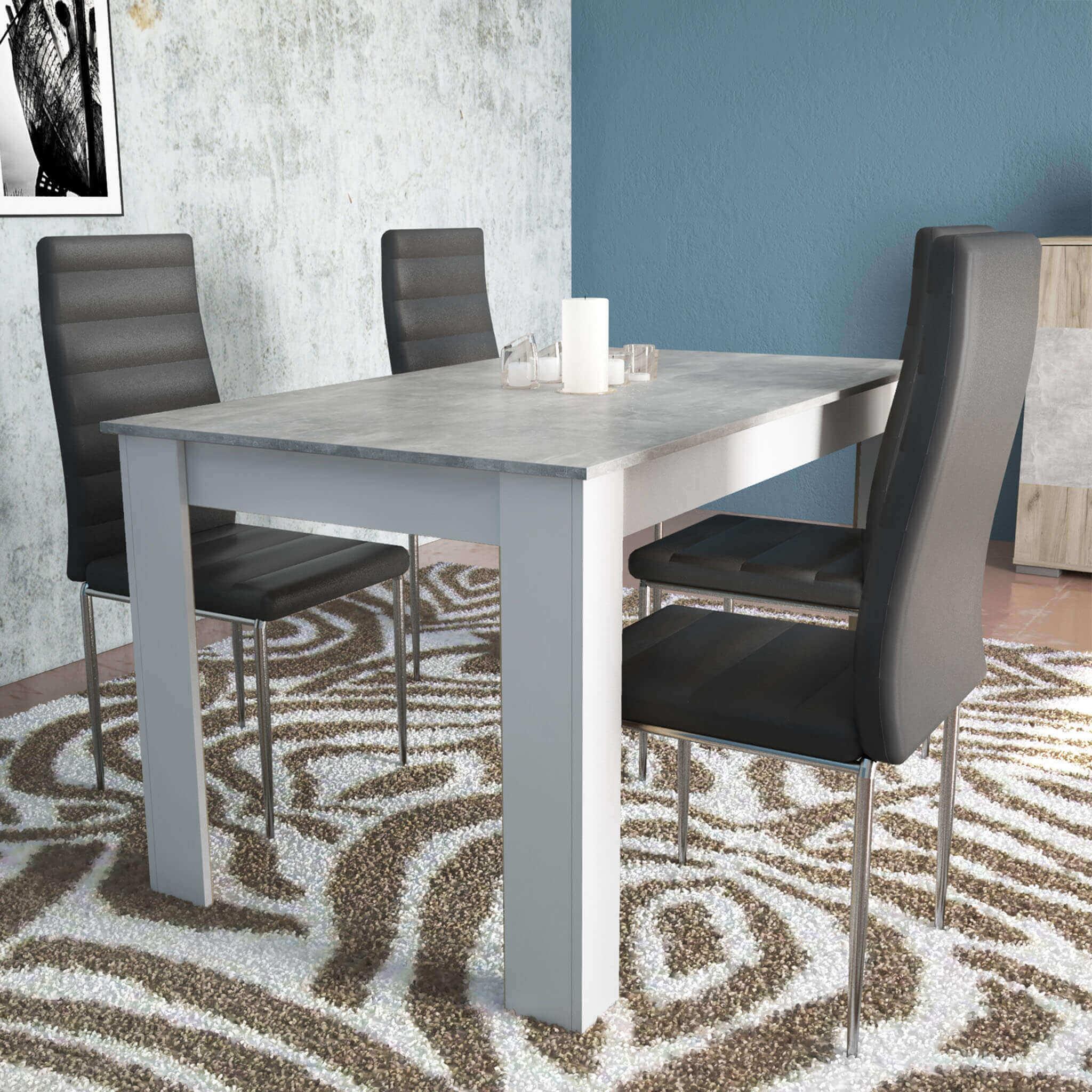 TEODOSIO - tavolo da pranzo 140x80x75 h
