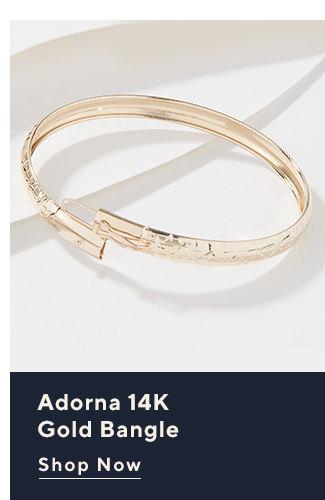 Adorna 14K Gold Bangle Shop Now