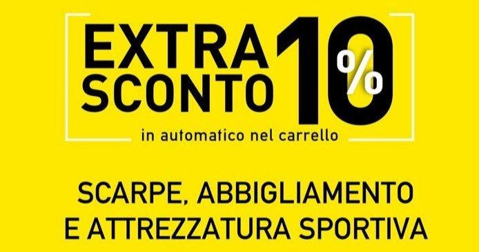 EXTRA 10% in automatico nel carrello SCARPE ABBIGLIAMENTO E ATTREZZATURA